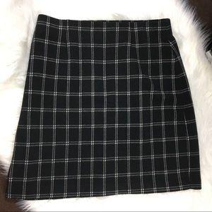 J Jill Black and White Pencil Skirt Size XS